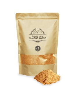 Pack of almond sawdust for smoking room