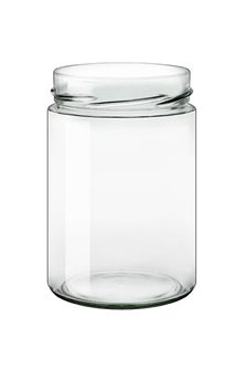 Glass jar 580 ml diam 85 mm with capsule with high skirt by 15