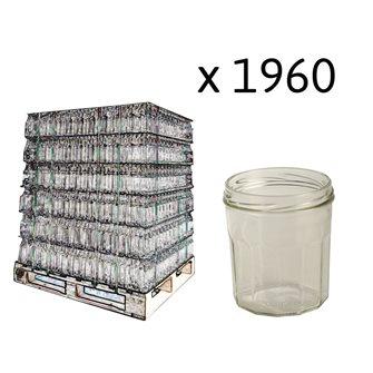 Jam pots 12 ribs 324 ml per pallet of 1960