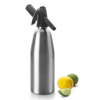 Siphon with soda and water of seltz 0,8 l in aluminum