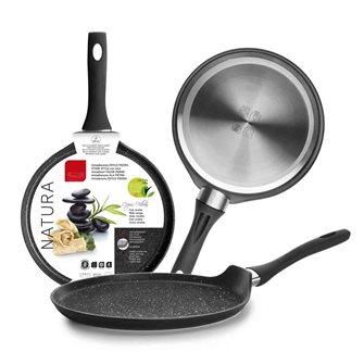 Induction nonstick pancake pan and bakelite handle