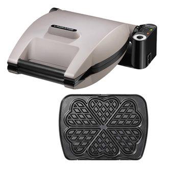 Non-stick electric waffle maker 2 waffles + heart waffles
