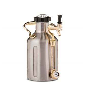 Growler inox 1,9 l double wall pressure keg, small model
