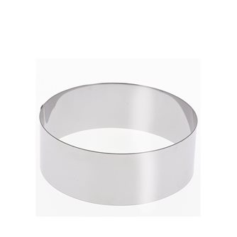 Stainless steel circle 12 cm high 6 cm for vacherin and other pastries