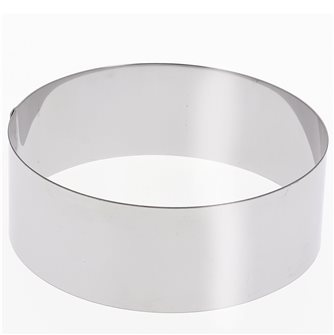 Stainless steel circle 30 cm high 6 cm for vacherin and other pastries