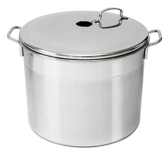 Stainless steel gas sterilizer 6 jars with column and hooks
