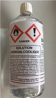 Solution hydroalcoolique 1l. pour désinfection des surfaces
