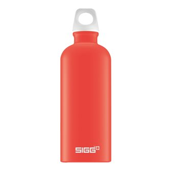 Light red aluminum bottle 0.6 l light reusable Lucid Scarlet Touch Sigg