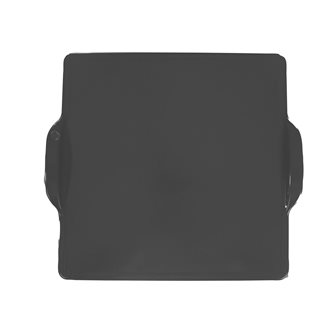 Oven plate and barbecue in square ceramic 35 cm anthracite Charcoal Emile Henry EXCLU