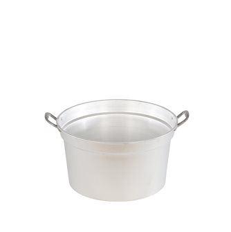 Pot flared 60 cm 53 liters cauldron with aluminum handles with lid