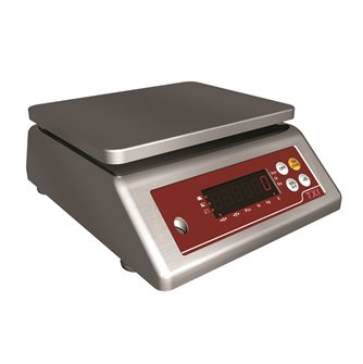 Compact stainless steel scale from 0.20 g to 15 kg