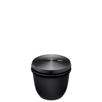 Stoneware salt and spice pot