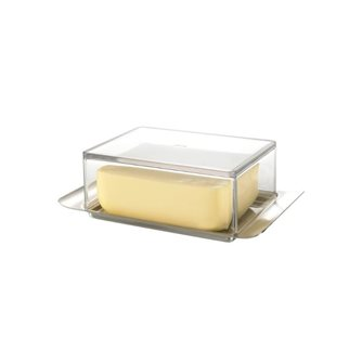 Elegant butter dish 250 g in stainless steel and transparent lid
