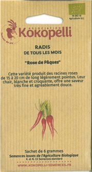 Easter pink radish seeds