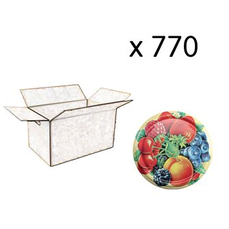Capsules twist-off 82mm fruit decor by 630 pieces